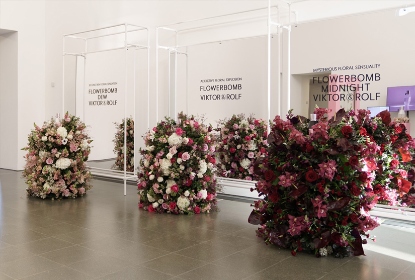Floral display for Victor & Rolf