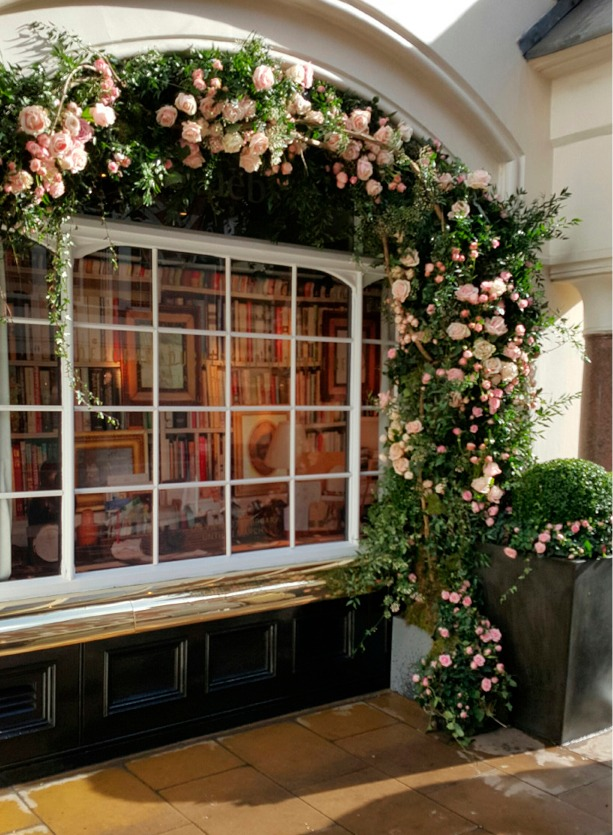 NB Flowers – Roses around the door at Sothebys London