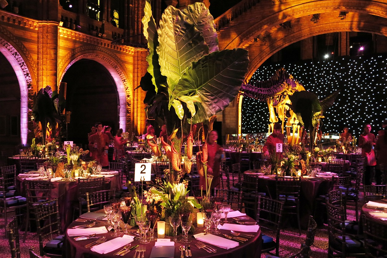 NB Flowers – Dino chic theme at the Natural History Museum