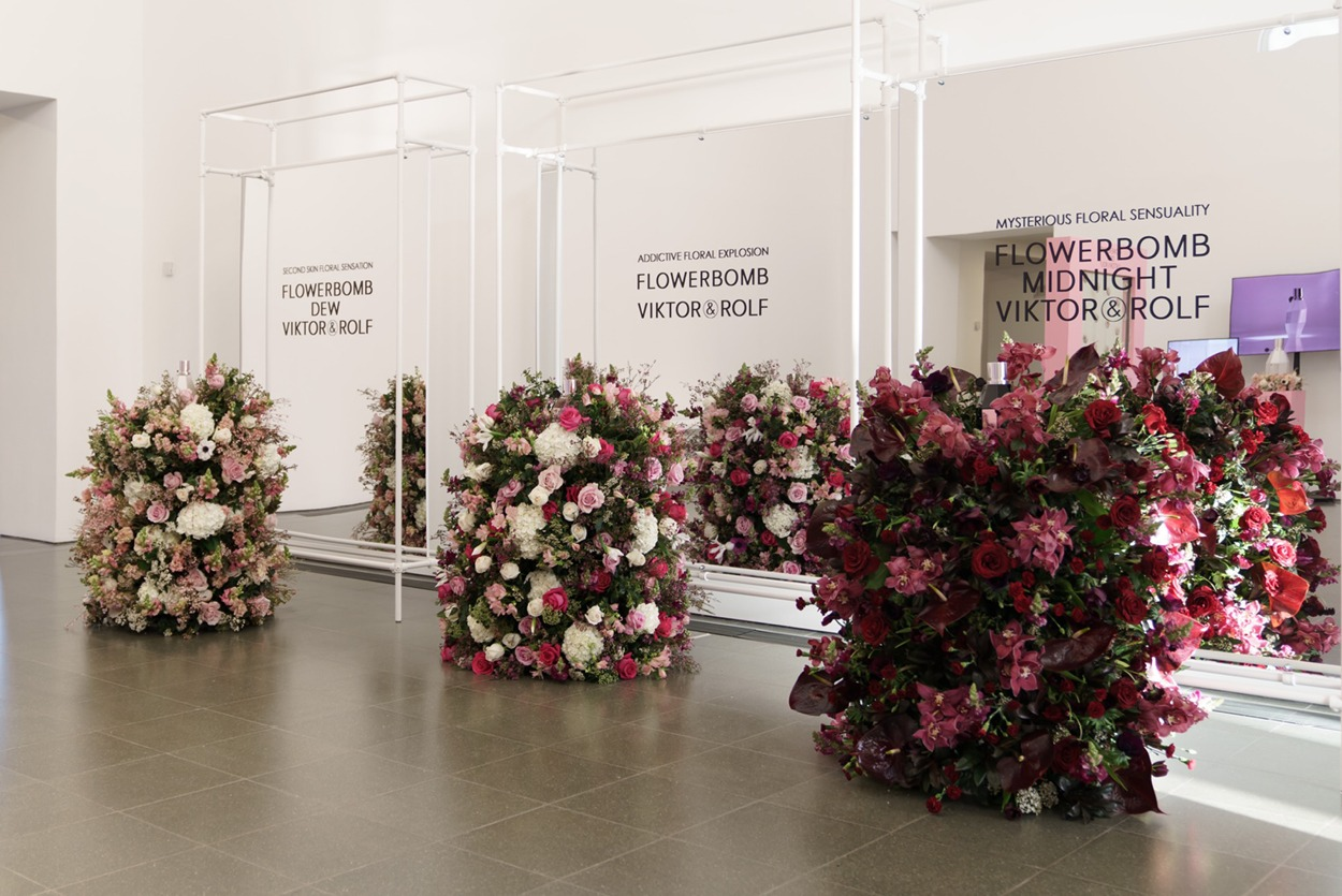 NB Flowers – Flowerbomb range for product launch for Victor and Rolf