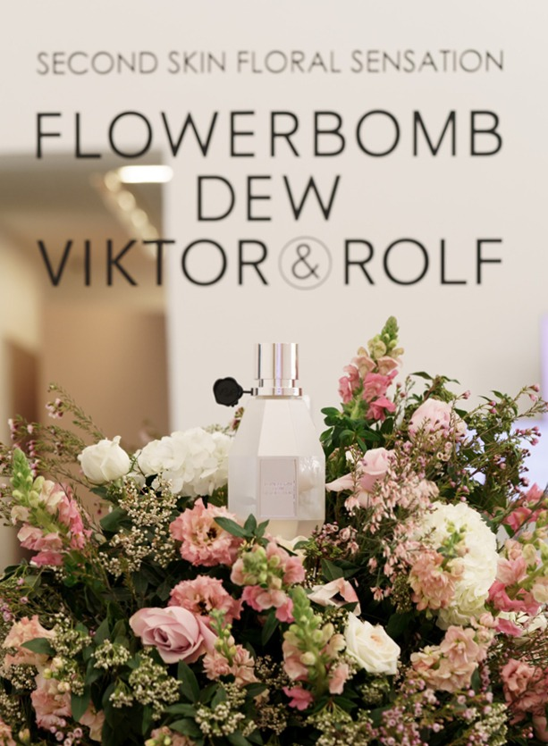 NB Flowers – Second Skin Floral Sensation flowers for Victor and Rolf Product Launch at