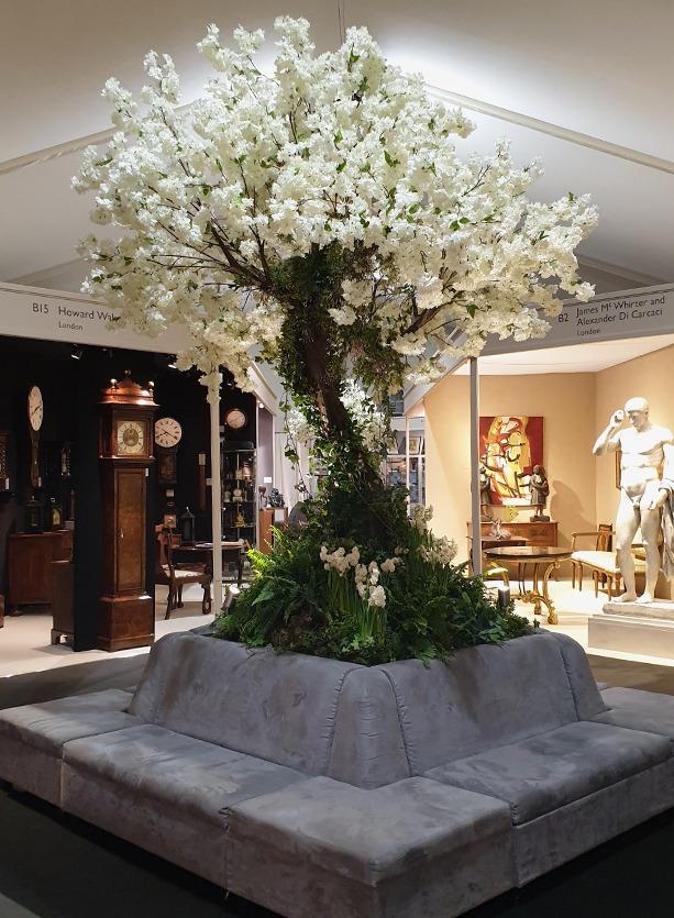 NB Flowers – Blossom tree display at Open Art Fair