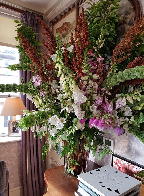 NB Flowers – English garden flower arrangement