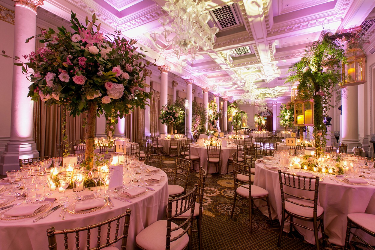 NB Flowers – The Langham London, Ballroom, themed wedding