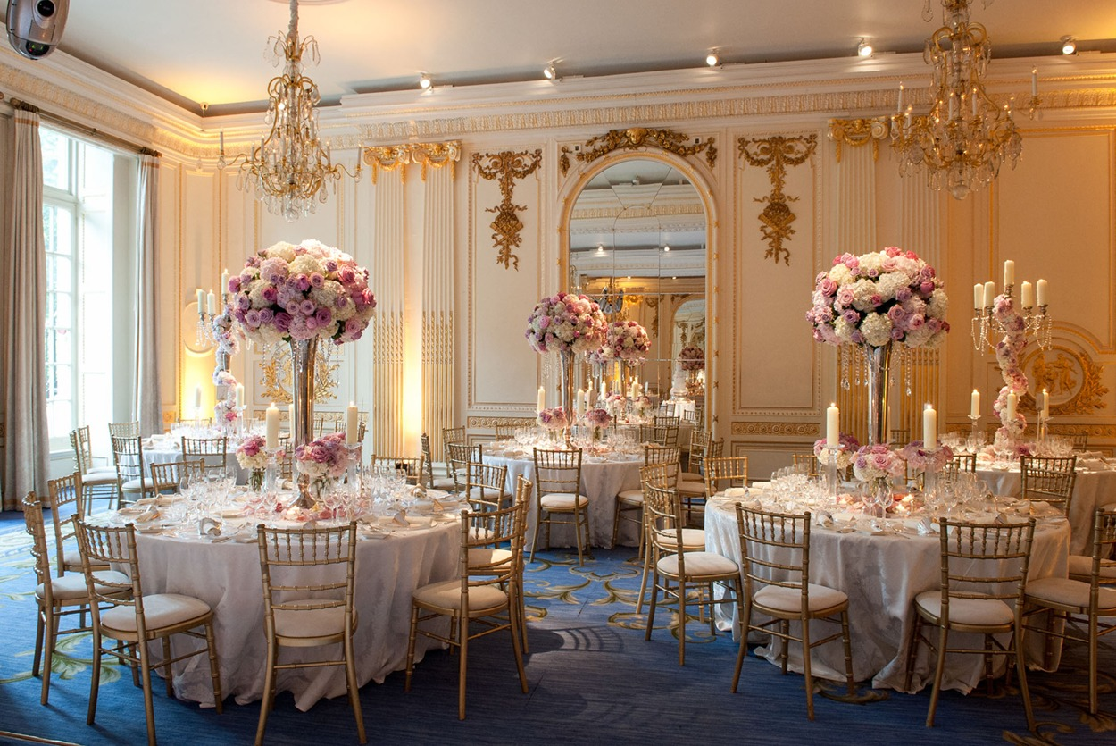 NB Flowers – Mandarin Oriental Hyde Park, Ballroom, table decorations