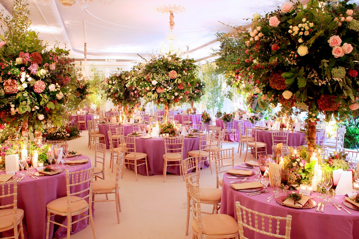 NB Flowers – Claridge's Ballroom, enchanting woodland theme