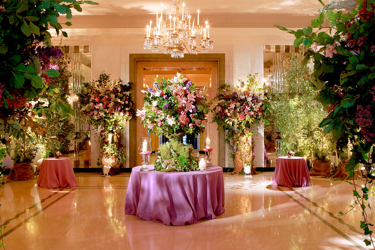 NB Flowers – Claridge's Ballroom Reception, woodland theme